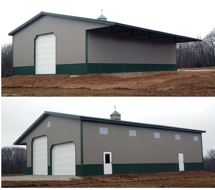 Easley 40X60X16 Steel-Truss Shop AMKO Buildings