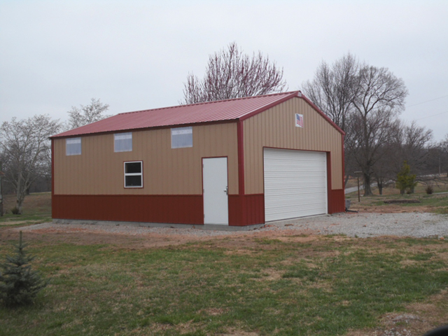 Foster 24 X 30 X 10 AMKO Post-Frame AMKO metal building in NW Arkansas