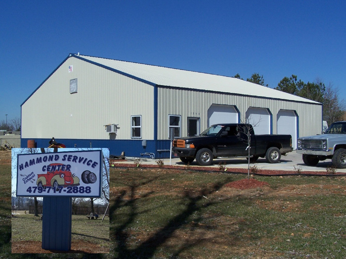 Hammond 60 X 60 X 12 shop building. AMKO metal buildings