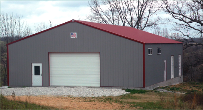 Neidecker 42x62x12 Steel Home/Shop building. AMKO metal buildings