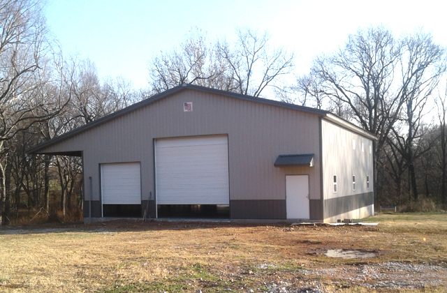 Ritter 50 X 60 X 16 shop building. NW Arkansas AMKO metal buildings